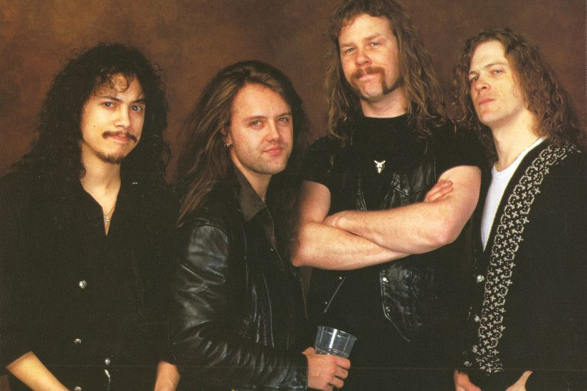 Metallica Lars Ulrich James Hetfield Long Hair Black Heavy Metal Thrash  Beards Leather Jeans Kirk Hammett Jason Newsted Music