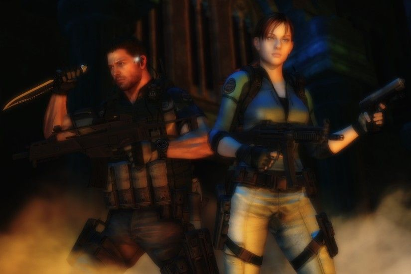 redfield37 200 11 Resident evil wallpaper Chris and Jill by ethaclane