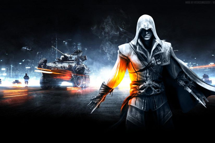 Video Game - Collage Assassin's Creed Battlefield Wallpaper
