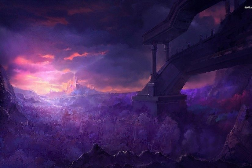 Image - Castle-under-the-purple-sky-fantasy-hd-wallpaper-70872.jpg |  Creepypasta Wiki | FANDOM powered by Wikia