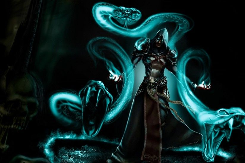 fantasy mage wizard sorcerer art artwork magic magician wallpaper .
