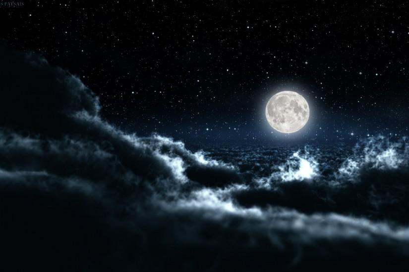 full size night sky wallpaper 1920x1200 for desktop