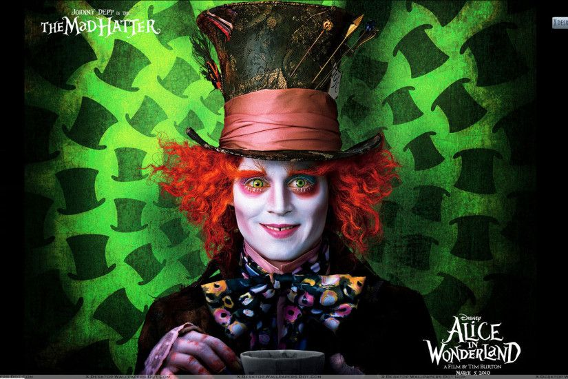 "You are viewing wallpaper titled ""Alice In Wonderland – Johnny Depp ..."