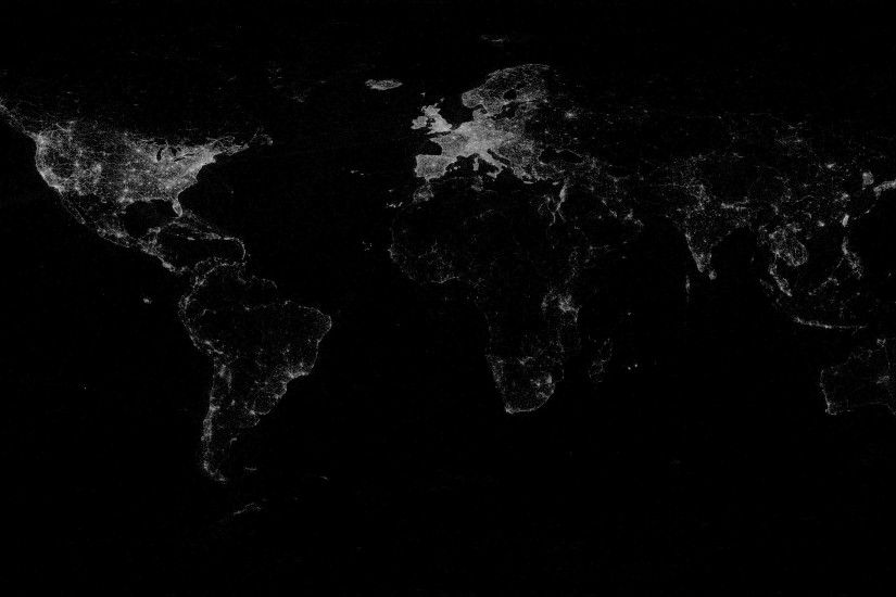 Dark World Map Wallpaper 4696