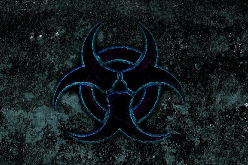 Blue Biohazard Wallpaper Biohazard blue by manbearpagan