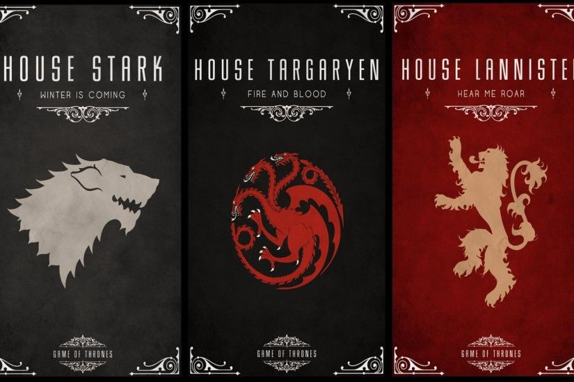 1920x1080 Game Of Thrones, Sigils, House Targaryen Wallpapers HD / Desktop  and Mobile Backgrounds