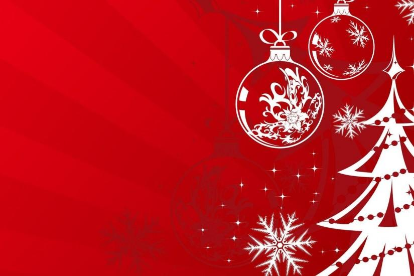 Red Christmas Snowflake Backgrounds (07)