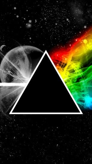 2160x3840 Wallpaper pink floyd, triangle, space, planet, colors