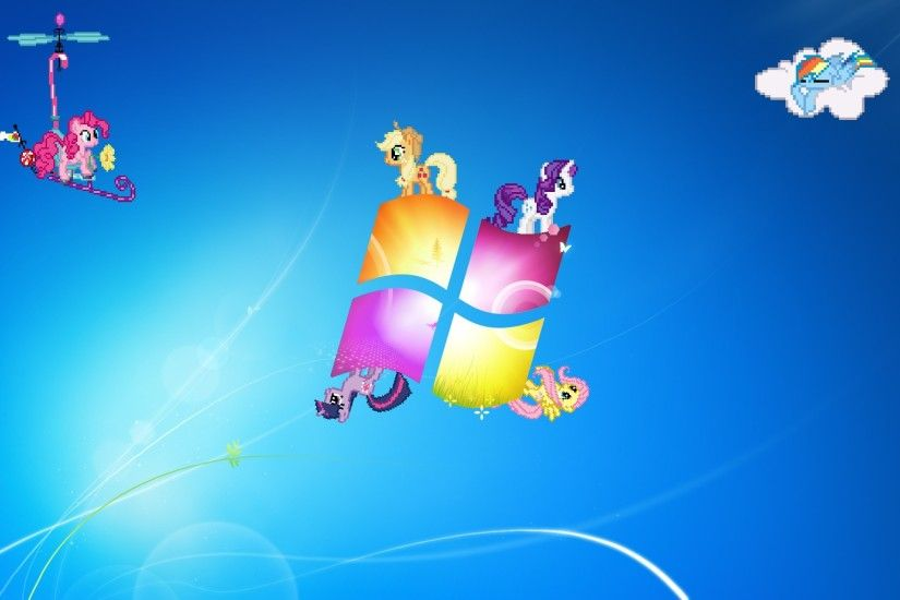 Windows My Little Pony Wallpaper by piranhaplant1 on DeviantArt My Little  Pony Windows Seven by MrPiBB-93 on DeviantArt ...