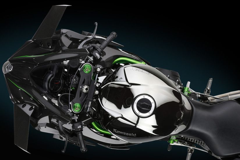 High-resolution images of the Kawasaki Ninja H2R.
