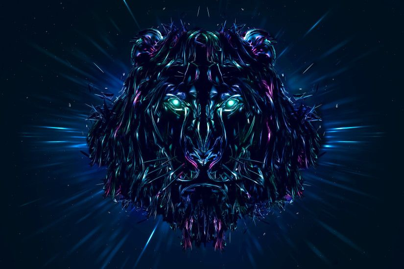 Lion, Artwork, CGI, HD