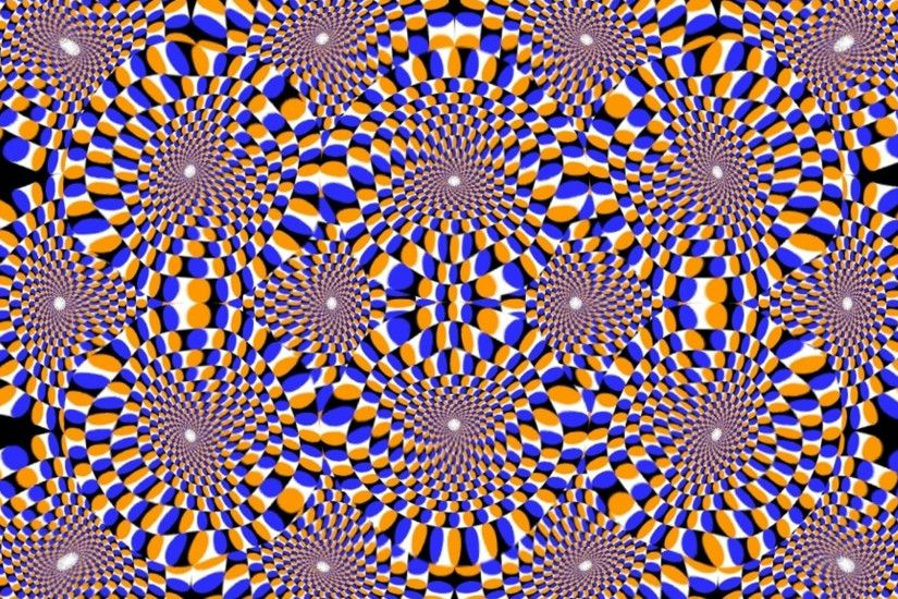 Preview wallpaper optical illusion, rotation, dipping, circles 2560x1440