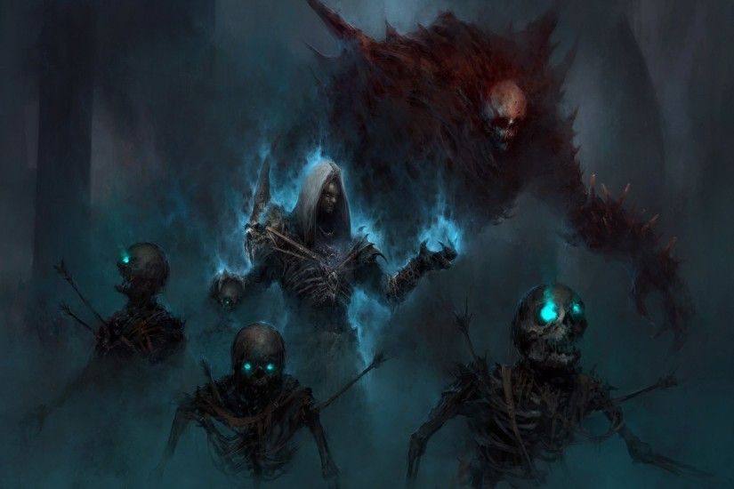 Video Game - Diablo III Necromancer (Diablo III) Dark Skeleton Undead  Wallpaper