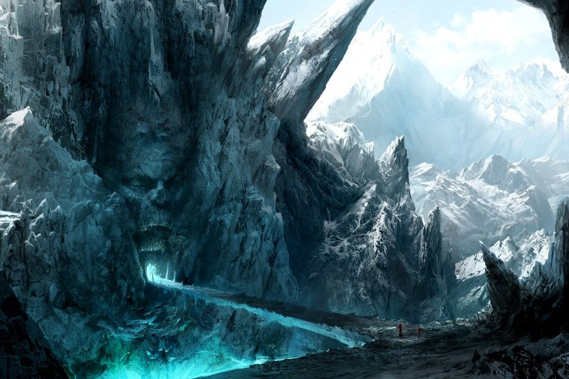Fantasy Landscape Widescreen Background Wallpapers