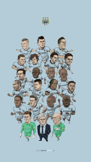 Manchester city fan art for mobile wallpaper All squad in 2014-2015 first  half season