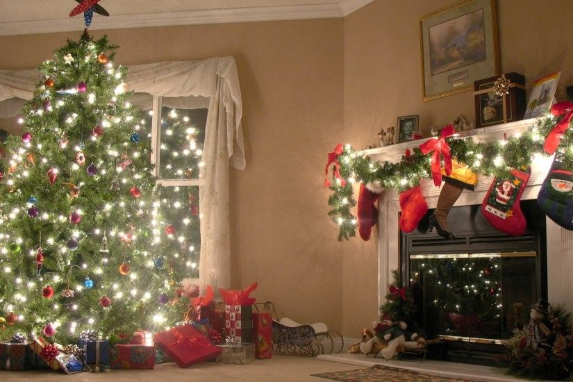 Preview wallpaper new year, christmas tree, decorations 1920x1080