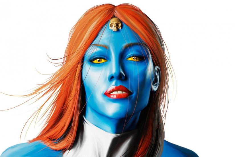 1920x1200 Wallpaper mystique, marvel comics, art, woman, face
