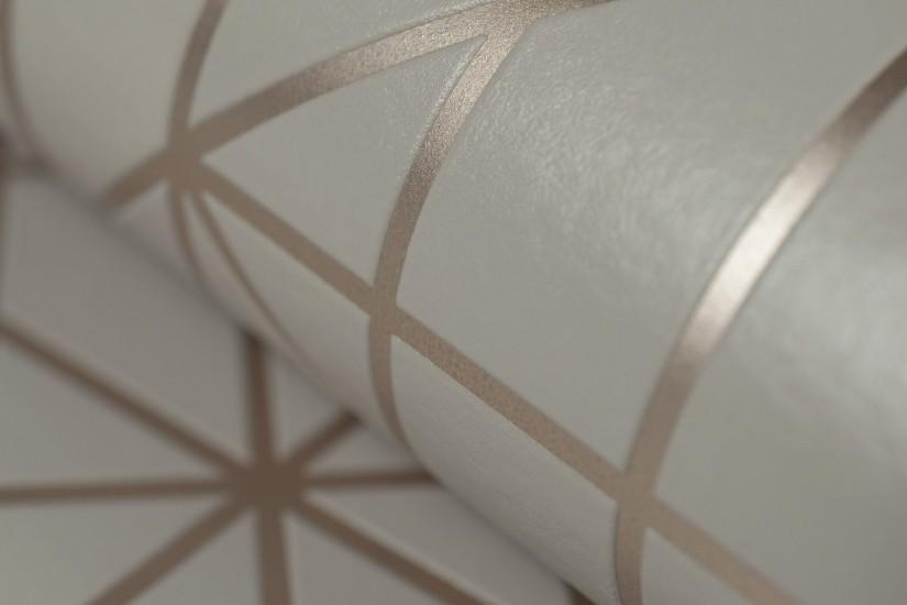 Buy Linear Taupe & Rose Wallpaper at Kelly Hoppen London!