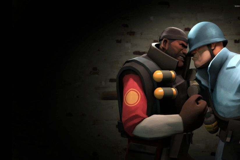 TF2 Demoman vs Soldier wallpaper 1920x1200 jpg