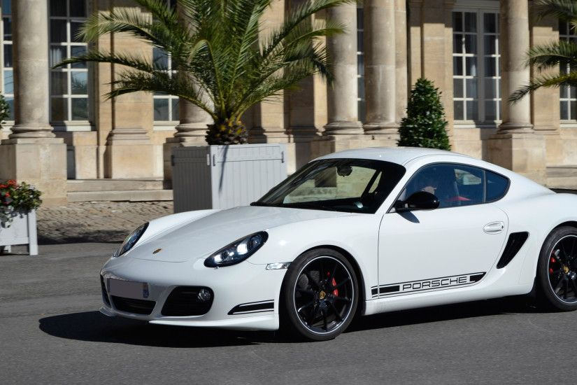 Vehicles - Porsche Cayman R White Car Car Vehicle Sport Car Porsche Porsche  Cayman Wallpaper