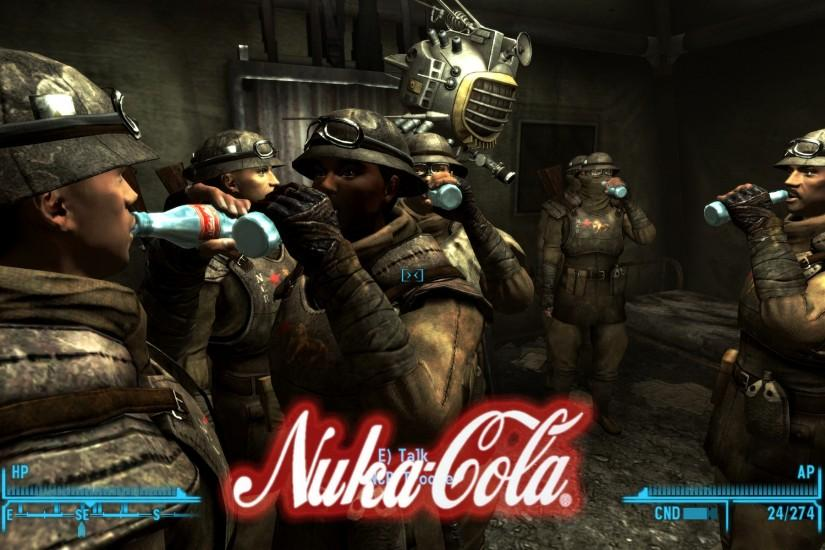 Fallout Nuka Cola Quantum enclave soldiers video games wallpaper (#867836)  / Wallbase.
