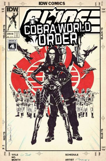 G.I. Joe: A Real American Hero: Cobra World Order Prelude variant cover by  Blank