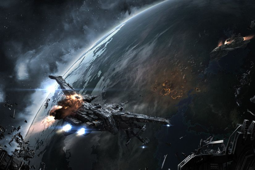 ... Wallpaper Abyss Download 1920x1200 Stellaris, Sci-fi, Space Station,  Spaceships .