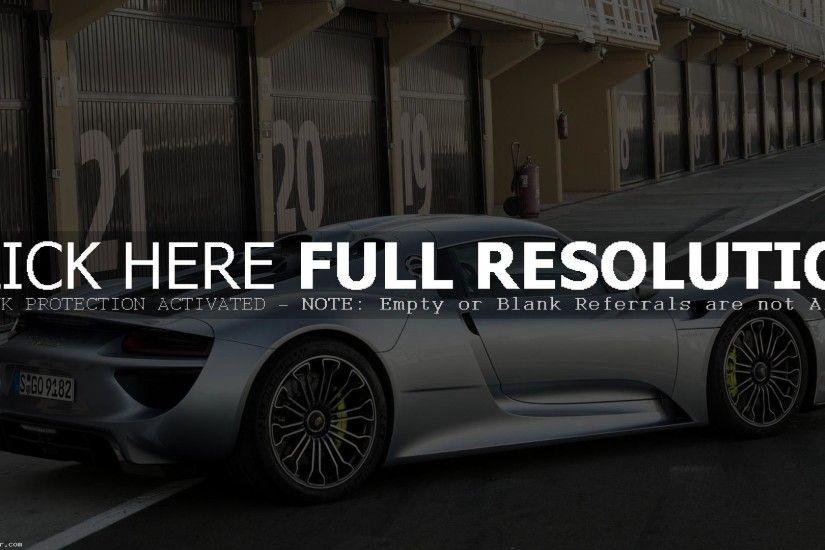 2014 PORSCHE 918 SPYDER DESKTOP WALLPAPER