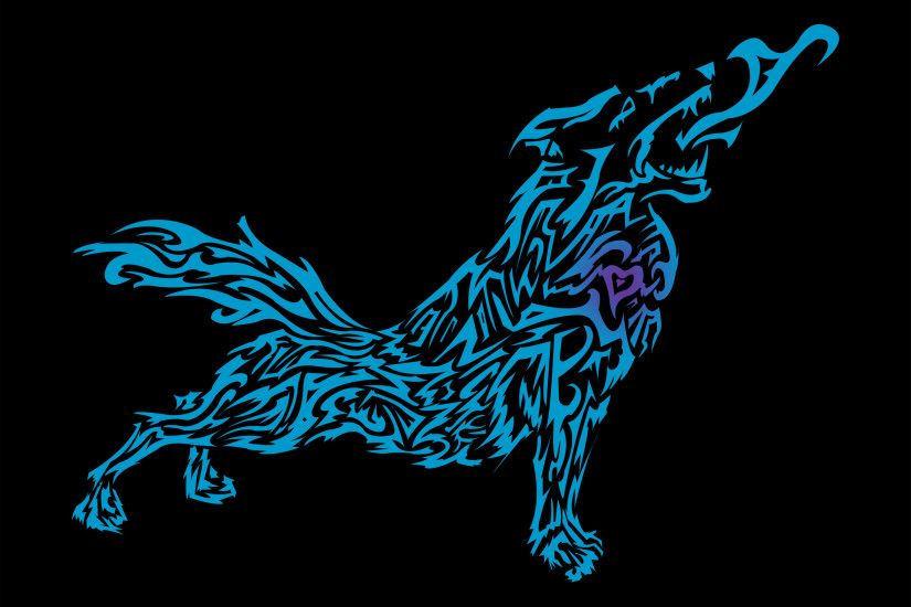 tribal wolf wallpapers for mac desktop, 2500 x 2000 (547 kB)