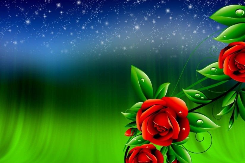Roses Background HD Wallpaper