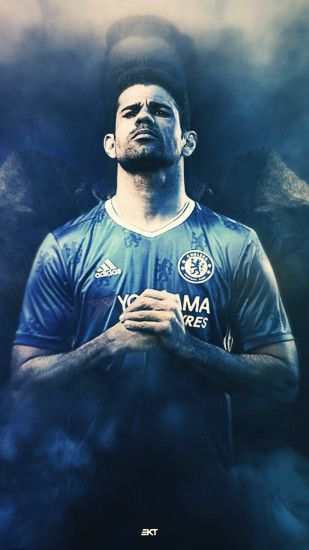 Diego Costa Chelsea iPhone Wallpaper.