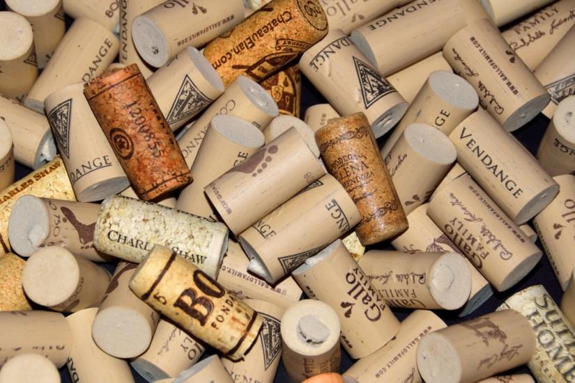 ... Wine Cork Background ...