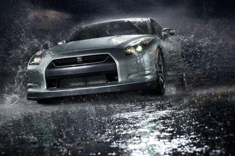 Cars Front Angle View Nissan GT R Vehicles Water Free IPhone Or Android  Full HD