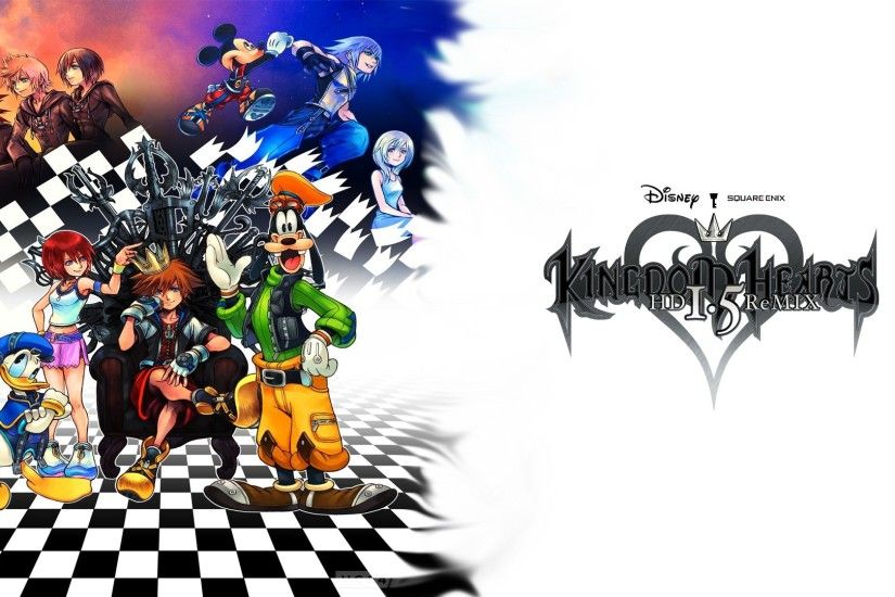 Oficial wallpaper Kingdom Hearts HD I.5 ReMIX Sora, Kairi, Riku, Donal,  Goofy, Mickey, Namine, Xion, Roxas and Axel | Kingdom Hearts HD I.5 ReMIX  ...