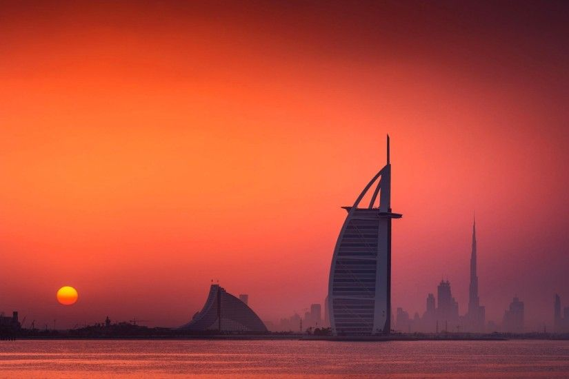 cityscape, Sunset, Dubai Wallpapers HD / Desktop and Mobile Backgrounds