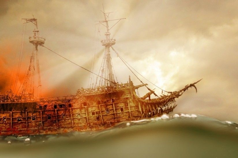 Pirate Ship Sailing Wallpaper