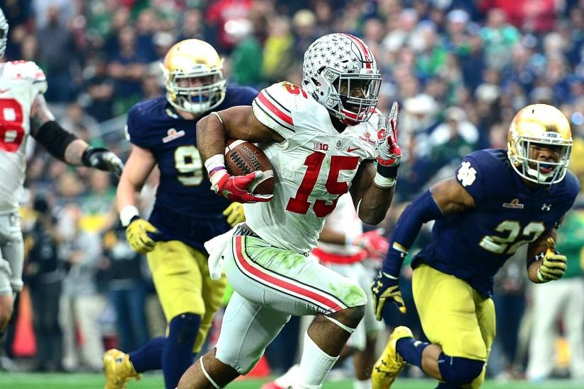 Ezekiel Elliott and No. 7 Ohio State overpower No. 8 Notre Dame in the  Fiesta Bowl, 44-28 - LA Times