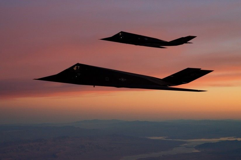 F 117 Nighthawk, Aircraft, Stealth, Military Aircraft, Sunset, US Air Force,  Strategic Bomber Wallpapers HD / Desktop and Mobile Backgrounds