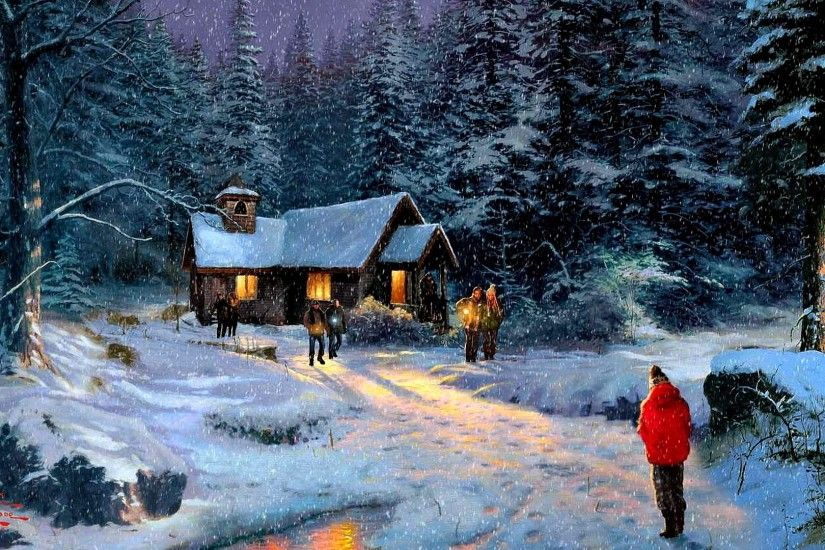 Thomas Tag - Christmas Miracle Peaceful Winter Time Forest Xmas Merry  Decorations Happy Holidays Decoration Woods