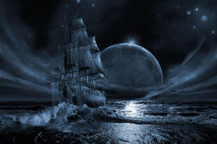 Ghost Pirate Ship Wallpapers High Quality Resolution