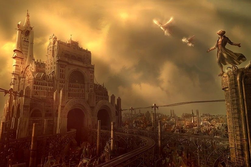 Steampunk Backgrounds ·①
