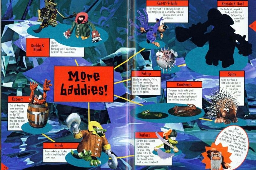 Donkey Kong Country 2: Diddy's Kong Quest instruction booklet, page 30.