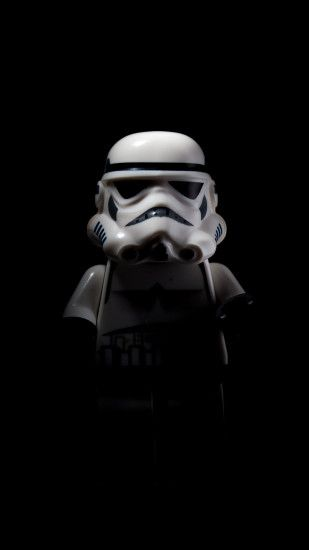 Stormtrooper shadow (iPhone 6) Black Wallpaper