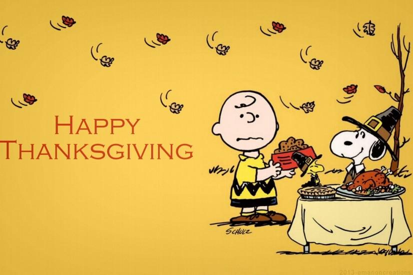 Snoopy Thanksgiving HQ Wallpaper.
