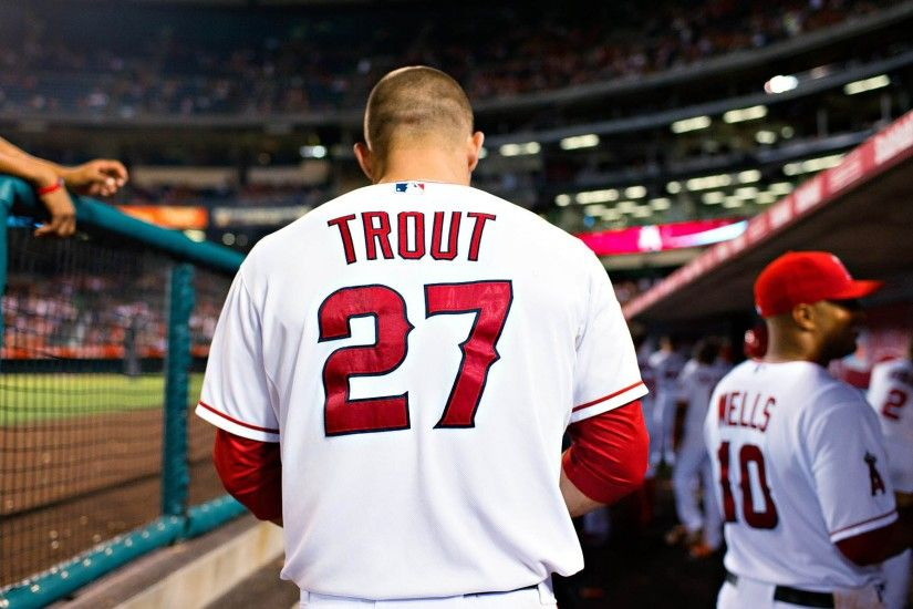 3840x2160 Wallpaper mike trout, baseball, los angeles angels of anaheim