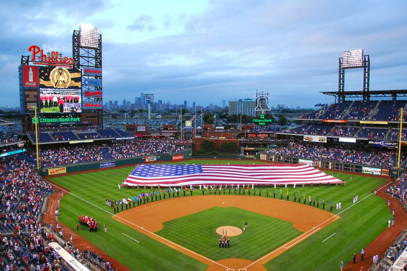Citizens Bank Park (Phillies) with Ameri... wallpaper - ForWallpaper .