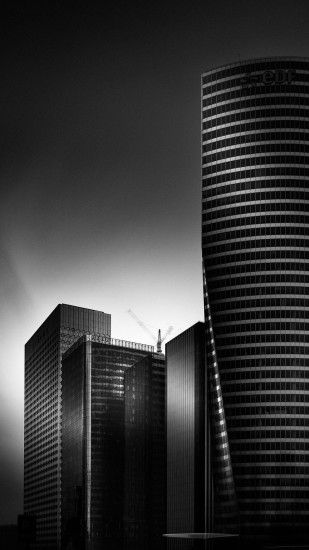 Black And White City HD Android Wallpaper ...