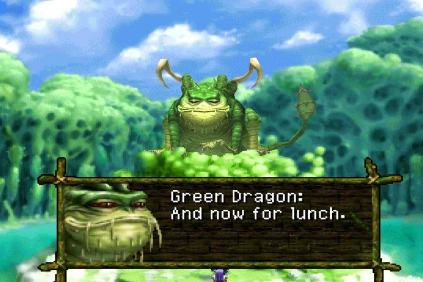 Chrono Cross Boss Tyrano And Green Dragon