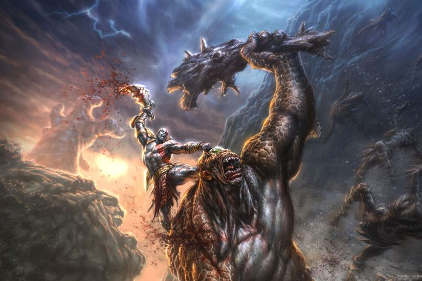 God of War Epic fight against Cyclops picture