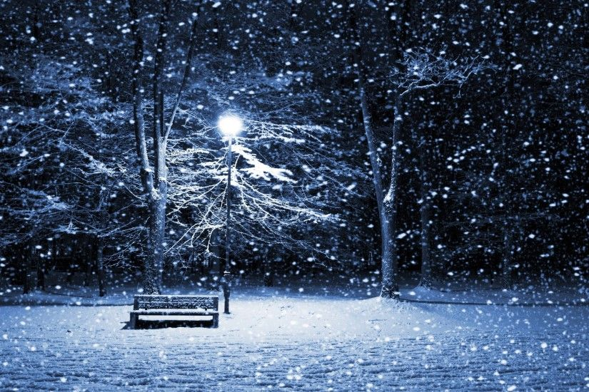 Snow Storm HD Wallpapers, Park Bench Snow Storm Desktop Wallpapers .
